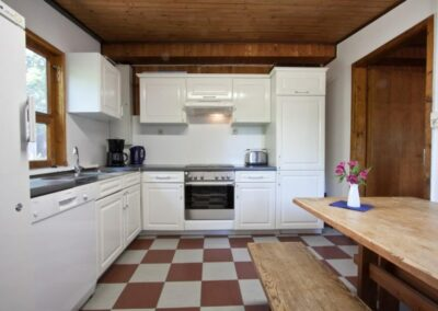 Blockhütte Küche