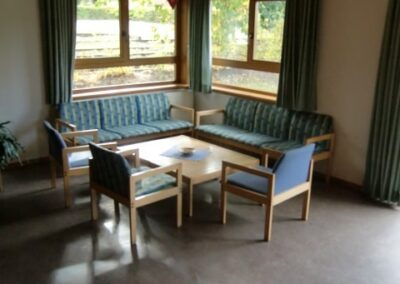Blockhütte Sitzecke im Gruppenraum